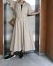 80's beige cotton dress