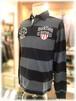 【 RUCK FIELD 】 - France -     ラックフィールド  長袖ポロシャツ                                      ボーダー × デザイン刺繍