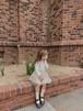 【予約販売】Rio suspender-skirt【baby】〈monbebe〉