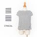 ☆SALE☆[CYNICAL] タック使いボーダーコットンTシャツ