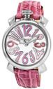 ガガミラノ GAGA MILANO マニュアーレ MANUALE 40mm 腕時計 クオーツ メンズ レディース 5020.6 ホワイト ピンク ホワイト