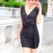 ドレープタイトミニドレス 黒