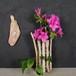 枝流木と浜辺の漂着びんの花瓶-1