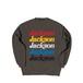 JACKSON 5 CREW SWEAT M381101- CHACOAL / クルー スウェット シャツ MARATHON JACKSON マラソン ジャクソン
