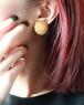 dead stock gold round earrings