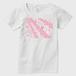 SaKuRa 白/ピンク レディースTシャツ