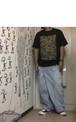tomokiyuritaのリメイク・ワイドデニム Lサイズ