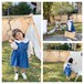 送料無料!【予約販売】バッククロス デニムワンピース 80cm〜120cm  女の子 姉妹 双子 ペアコーデ 出産祝い