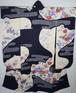 絞り 小田急謹製 銀駒刺繍 振袖 染め分け 正絹 ダリア 銀彩 白 紫 006