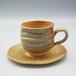 自然釉コーヒカップ&ソーサーセット〈OS-D01-1〉