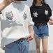 【お取り寄せ商品】キャットプリントTシャツ 7523
