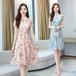 【dress】人気アイテム ! 着痩せプリントレディースファッション花柄ワンピース2色