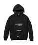 """Supper"" HOODIE  BLACK  19AW-FS-40"