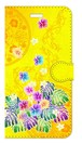 【iPhone6Plus/6sPlus】Passion Yellow Paradise パッション・イエロー・パラダイス 手帳型スマホケース