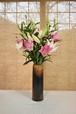 豪華百合10本花束と御前窯の高級花器(B)