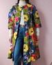 60's flower quilting coat