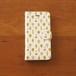 手帳型スマホケース(普通サイズのiPhone用)いしカバくんボタニカル柄