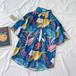 原宿系  新作  ファッション  コージー  POLOネック  半袖  シャツ・ブラウス・トップス