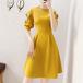 【dress】定番シンプルエレガントチュニック切り替えデートワンピースオシャレ M-0476