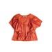 Cotton satin blouse five tacks