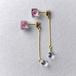 宝石質AAAクォーツとヒメツルソバのピアス(天然石, 誕生石, レジン, ステンレス, 送料無料)