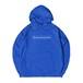 SQUARE LOGO HOODIE M381501-BLUE / フード スウェット パーカー 青 MARATHON JACKSON マラソン ジャクソン