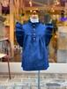 WOMEN:NEEDLEWORKS  6oz Denum gather blouse(S,Mサイズ/WOMEN)