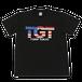 TGTアメリカンロゴ ドライメッシュシャツ(ブラック)