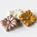 信楽陶器の箸置き 花 (角)