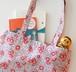 ロシアの古い布で作ったトートバッグB(ピンクの小花柄)