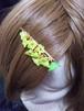 枝垂れヘアピン 黄緑