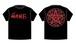 6th Single発売記念Tシャツ(黒×赤)