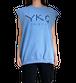 【YKG】CANOTTA タンクトップ【水色】【新作】イタリアンウェア《M&W》