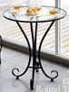 96.パリのカフェにあるようなアイアンとガラスのダイニングテーブル(60㎝)
