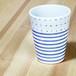 砥部焼 フリーカップ (カラードットと独楽)