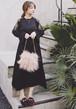 購入ページ:レースロングブラックドレス