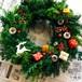 トナカイの落し物 クリスマス リース 25cm