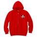 avenomix / THUNDER EMBLEM FULL ZIP HOODED SWEATSHIRT RED