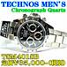 テクノス 紳士 クロノグラフ TSM401SB 定価¥35,000-(税別)