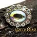 チェコガラス☆オーロラ クリスタル ヴィンテージ クラスター プチ ブローチ 1960s,ハットピン