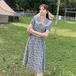 【dress】今季マストバイスウィートレース切り替え花柄ワンピース手触りいい