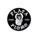 HARD LUCK - PLATA STICKER (Black) 95mm