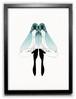 額装作品30 双子の青い鳥 Mon les oiseaux bleu