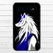 #037-005 モバイルバッテリー おすすめ iPhone Android かわいい おしゃれ 男性 向け 和風 和柄 スマホ 充電器 タイトル:稲荷 作:プルーミィグッズ