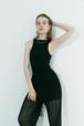 Double-sided sleeveless / Black