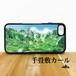 千畳敷カール 宝剣岳 強化ガラス iphone Galaxy スマホケース 登山 山 アウトドア 中央アルプス 夏