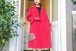 "VINTAGE ""marguerite Rulel "" Red velour coat"