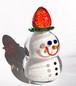 『苺が大好き雪だるま』ガラス雪だるま/スノーマン/Snow Man/苺/ストロベリー