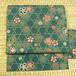 山藍摺色に籠目文様と桜 名古屋帯