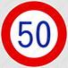 【イラスト】最高速度の 交通標識